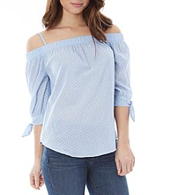 A. Byer Cold-Shoulder Peasant Top
