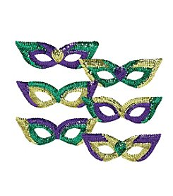 Mardi Gras 6-pk. of Sequin Party Masks