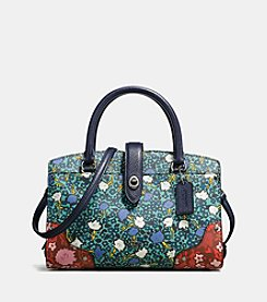COACH MERCER SATCHEL 24 IN MULTI FLORAL PRINTED LEATHER