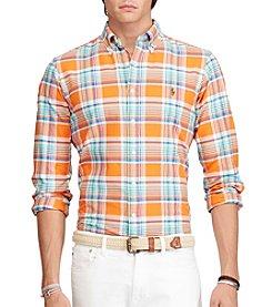 Polo Ralph Lauren® Men's Button Down Plaid Oxford Shirt