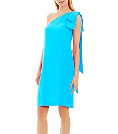 Nicole Miller New York™ One-Shoulder Bow Drape Dress