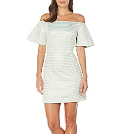 Laundry by Shelli Segal® Metallic Off-Shoulder Dress