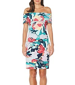 Laundry by Shelli Segal® Floral Off-Shoulder Dress