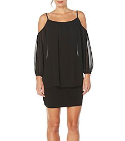 Laundry by Shelli Segal® Sheer Cold-Shoulder Dress