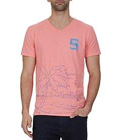 Nautica® Men's Faded Palm Graphic V-Neck T-Shirt