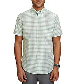 Nautica® Men's Short Sleeve Large Plaid Shirt