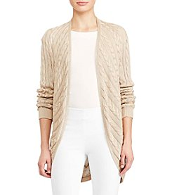 Lauren Ralph Lauren® Cable-Knit Open-Front Cardigan