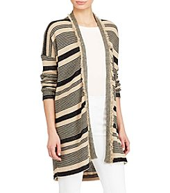 Lauren Ralph Lauren® Striped Fringe Cardigan