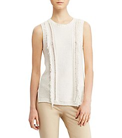 Lauren Ralph Lauren® Fringe Sleeveless Sweater