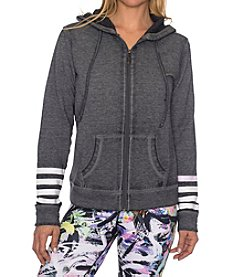 Betsey Johnson Performance® Stripe Logo Jacket