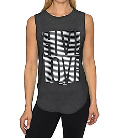 Betsey Johnson Performance® Give Love Strip High Low Muscle Tank