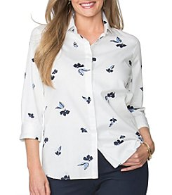 Chaps® Plus Size Floral Sateen Shirt