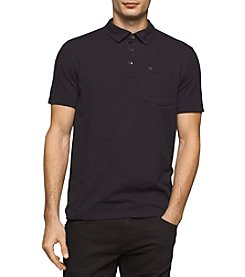 Calvin Klein Jeans Men's Solid Key Idea Polo