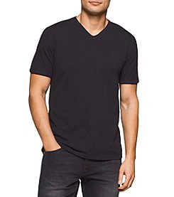 Calvin Klein Jeans Men's Mixed Media V-Neck Tee