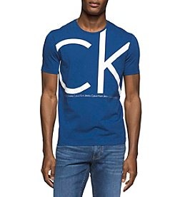 Calvin Klein Jeans Men's Ck Cracked Metallic Crew Neck Tee