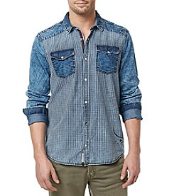 Buffalo by David Bitton Men's Long Sleeve Gingham Woven Shirt