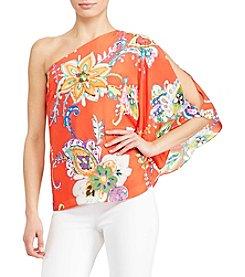 Lauren Ralph Lauren® One Shoulder Paisley Top