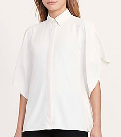 Lauren Ralph Lauren® Draped Button-Down Blouse