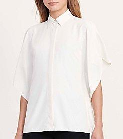 Lauren Ralph Lauren® Draped Button-Down Blouse