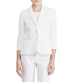 Lauren Ralph Lauren® Twill Two-Button Jacket