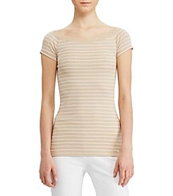 Lauren Ralph Lauren® Striped Off-The-Shoulder Tee