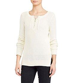 Lauren Ralph Lauren® Lace-Up Sweater