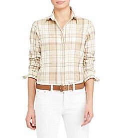 Lauren Ralph Lauren® Plaid Cotton Shirt