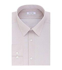 Calvin Klein Men's Long Sleeve Print Slim Fit Dress Shirt