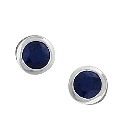 Effy® 14K White Gold Natural Sapphire Earrings