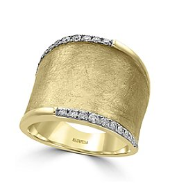 Effy&Reg; 14K Yellow Gold Diamond Ring