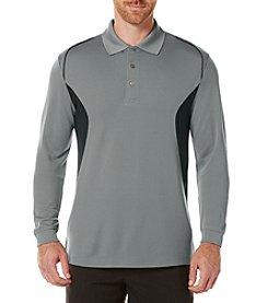 PGA TOUR® Men's Airflux Long Sleeve Color Block Polo