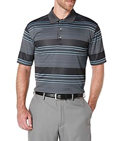PGA TOUR® Men's Striped Jacquard Polo