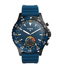 Fossil® Q Crewmaster Hybrid Smartwatch With Silicone Strap