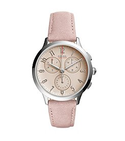 Fossil® Women's Abilene Sport Chronograph With Leather Strap