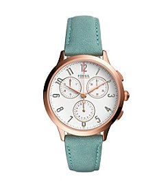 Fossil® Women's Abilene Sport Chronograph Watch With Leather Strap