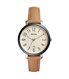 Fossil® Women's Jacqueline Watch With Leather Strap