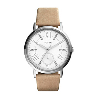 Fossil® Women's Gazer Multifunction Watch With Leather S