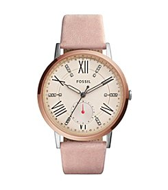 Fossil® Women's Gazer Multifunction Watch With Leather Strap