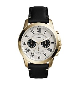 Fossil® Men's Grant Chronograph Watch With Leather Strap