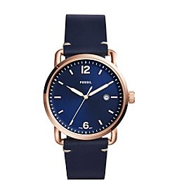 Fossil® Men's The Commuter Watch With Leather Strap