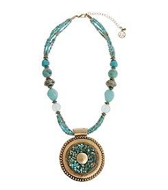 Erica Lyons® Circle Pendant  Necklace