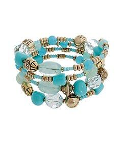 Erica Lyons® Beaded Coil Bracelet