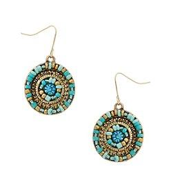 Erica Lyons® Circle Drop Pierced Earrings