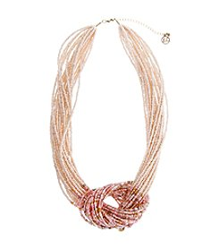 Erica Lyons® Making Me Blush Knot Front Necklace
