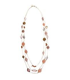 Erica Lyons® Making Me Blush Long Layered Necklace