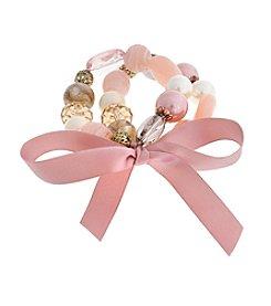 Erica Lyons® Making Me Blush Two Piece Stretch Bracelet