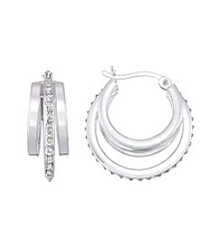 Diamond Mystique® Diamond Round Triple Hoop Earrings
