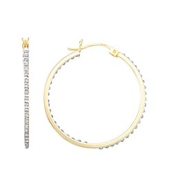 Diamond Mystique Round Hoop Earrings