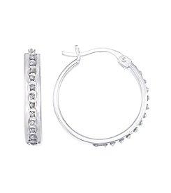 Diamond Mystique® Round Hoop Earrings