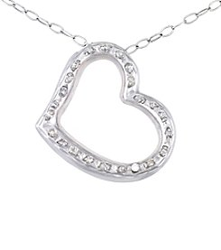 Diamond Mystique® Heart Pendant With Chain